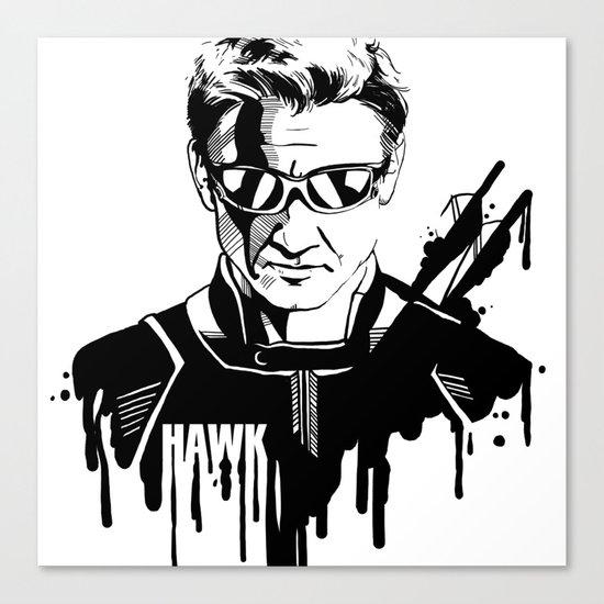 Avengers in Ink: Hawkeye Canvas Print