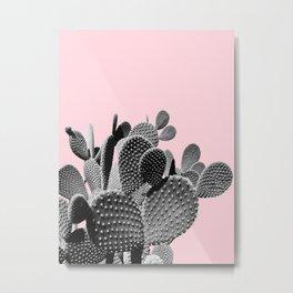 Bunny Ears Cactus on Pastel Pink #cactuslove #tropicalart Metal Print