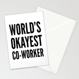 World's Okayest Co-worker Stationery Cards