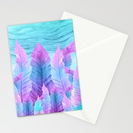 Underwater Leaves Vibes #1 #decor #art #society6 Stationery Cards