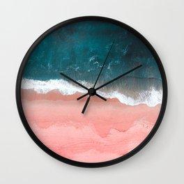 Turquoise Sea Pastel Beach III Wall Clock