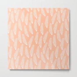 Fern, Peach Metal Print