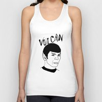 spock Tank Tops featuring Mister Spock by Emmanuelle Ly