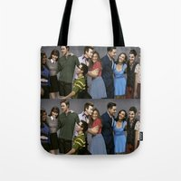 glee Tote Bags featuring Glee by weepingwillow