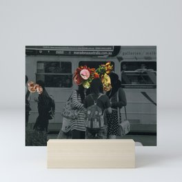 Street people collage series #4 Mini Art Print