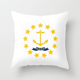 Rhode Island State Flag Patriotic Design Throw Pillow