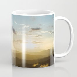 Sunset on the top mountain Coffee Mug