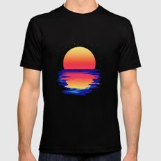 Ocean Dreams Mens Fitted Tee MEDIUM Black
