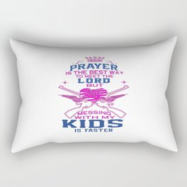Messing with my Kids Rectangular Pillow