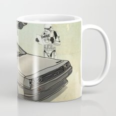 Lost, searching for the DeathStarr _ 2 Stormtrooopers in a DeLorean  Coffee Mug