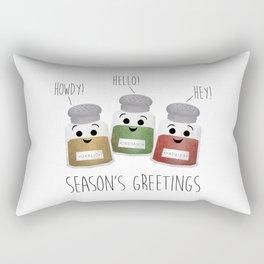 Season's Greetings | Garlic, Oregano & Paprika Rectangular Pillow