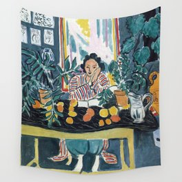 Interior with Etruscan Vase - Henri Matisse - Exhibition Poster Wall Tapestry