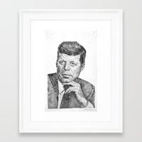 jfk Framed Art Prints featuring JFK by Monifa Charles
