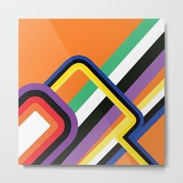 60s Geometric Shapes Metal Print
