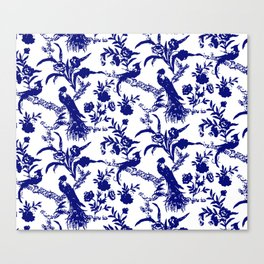 Royal french navy peacock Canvas Print