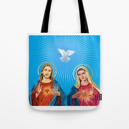 Jesus Christ and the Virgin Mary Tote Bag