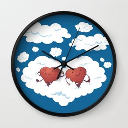 DREAMY HEARTS Wall Clock