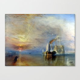 Joseph Mallord William Turner The Fighting Temerai Canvas Print