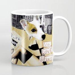 We Love Peace/ We Love Poetry Coffee Mug