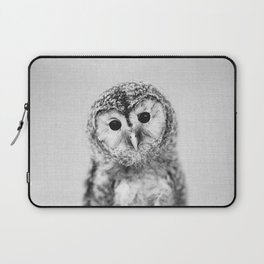 Baby Owl - Black & White Laptop Sleeve