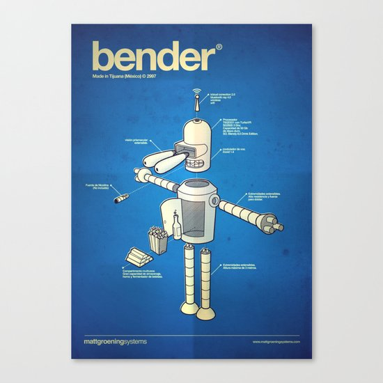 Bender Canvas Print
