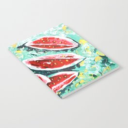watermelon acrylic art Notebook