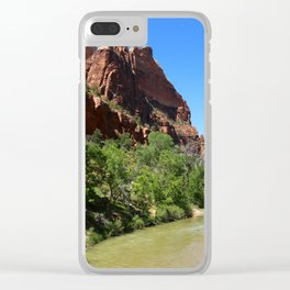 Virgin River At Zion Park Clear iPhone Case