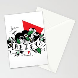 I LOVE YOU BERRY MUCH Stationery Cards
