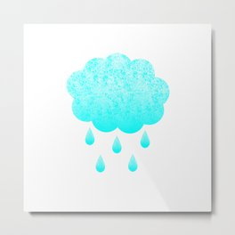 Cloud and randrops Metal Print