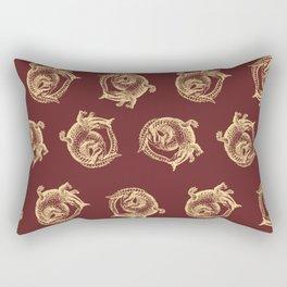 Royal Gator - Gold on Crimson Rectangular Pillow