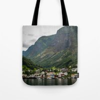norway Tote Bags featuring Norway by Michelle McConnell