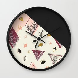 Rhombus&Palms #society6 #decor #buyart Wall Clock