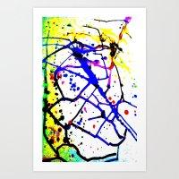 splatter Art Prints featuring Splatter by TheAbstractGirl_Jess