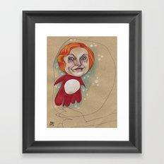 PONYO'S BUBBLE Framed Art Print