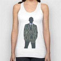 skyfall Tank Tops featuring Skyfall - James Bond: The Old Fashioned Way by Jon Naylor