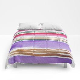 7   |181026 Lines & Color Block | Watercolor Abstract | Modern Watercolor Art Comforters