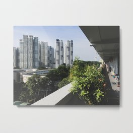 The New and The Old: Singapore Living. Metal Print