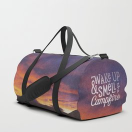 wake up & smell the campfire Duffle Bag