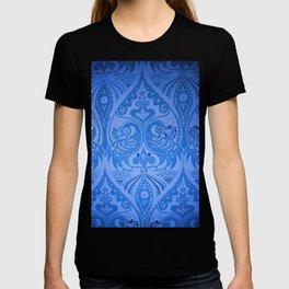 Ornamental Lovebirds Decorative Blue T-shirt