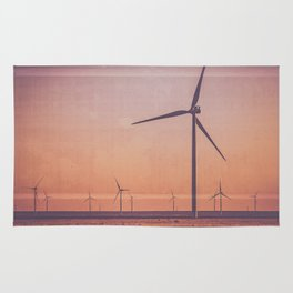 Southwest Windmills Route 66 Rug
