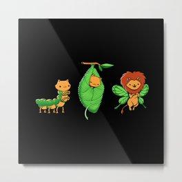 Cat-Erpillar Metal Print