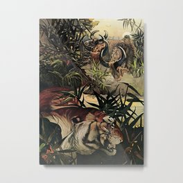 """""""Shere Khan"""" the Tiger from Kipling's Tales of India Metal Print"""