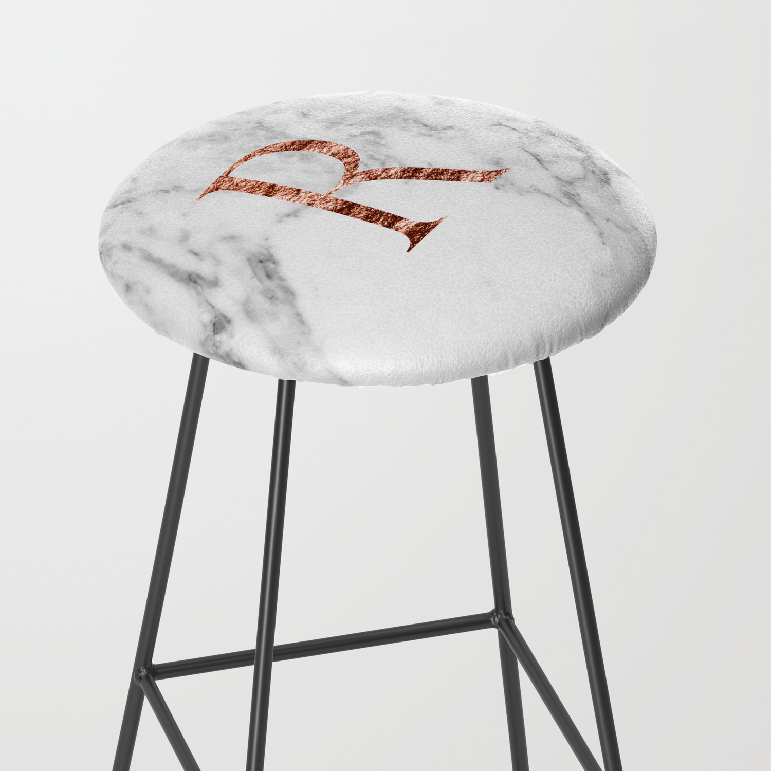 Rose Gold Kitchen Bar Stools New Monogram Rose Gold Marble R Bar Stool By Marbleco 2971 9