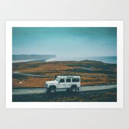 Defender on the Road Art Print