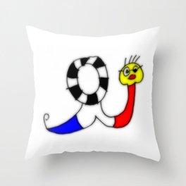 french snail I Throw Pillow