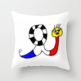 french snail I Throw Pillow