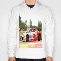 audi Hoodies featuring Flying Lizard Audi R8 | Road America by Phil Schroeder Design