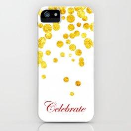 Celebrate | Gold Confetti iPhone Case