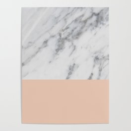 Marble and Blush Pink Poster