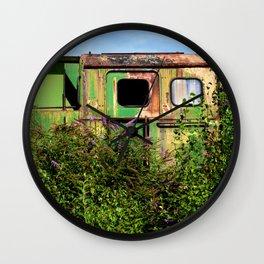 Old rusty train cabin Wall Clock